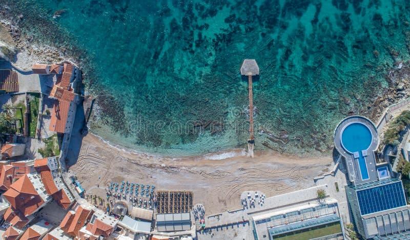 Glava de Ricardova de plage Budva montenegro photos stock