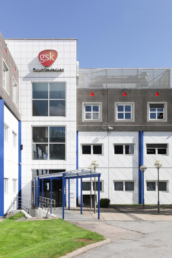GlaxoSmithKline办公楼在Brondby,丹麦 免版税库存照片