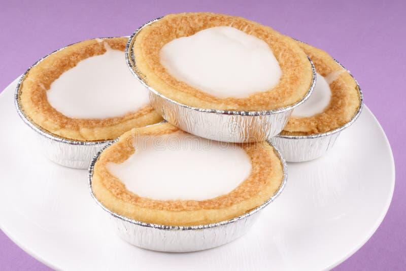 Glazed Almond Tarts Stock Photo