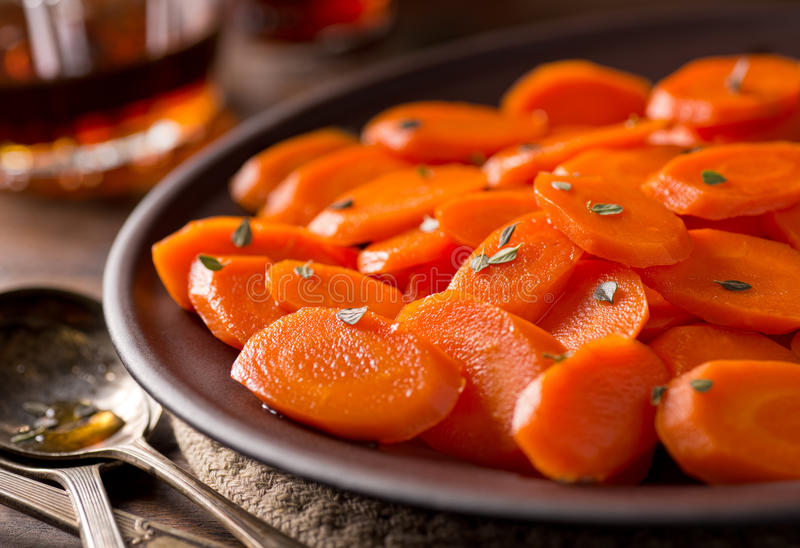 Glazed Carrots royalty free stock photography