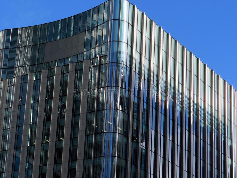 Glazed Docklands Buildings. royalty free stock photography