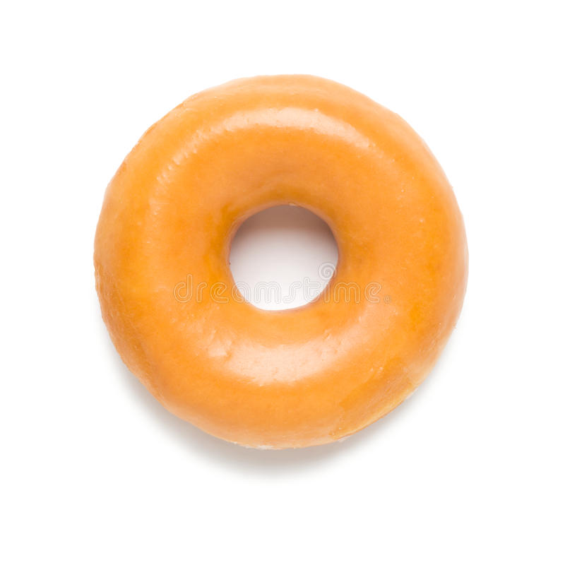 Glazed Donut on White. Sugar Glazed Donut on White stock photos