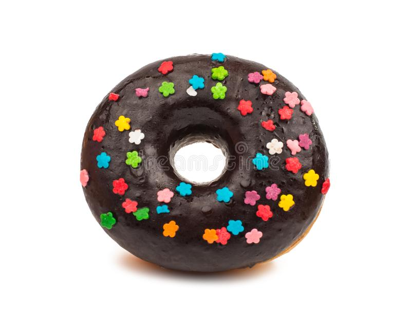 Glazed donuts. On a white background stock images