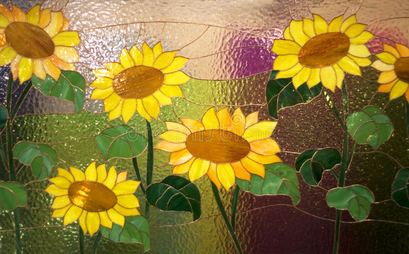 Glazed with flowers. Glazed with painted yellow flowers stock photo