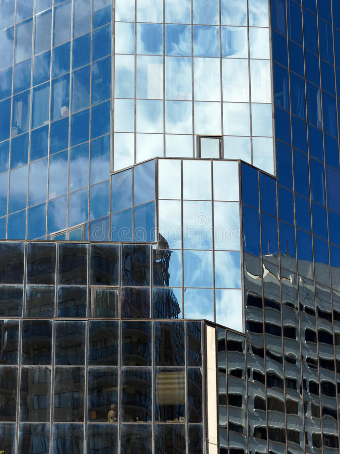 Glazed Skyscraper; Reflections stock images