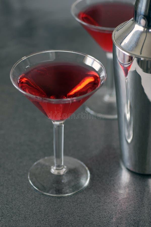 Glazen 3 van de cocktail stock afbeelding