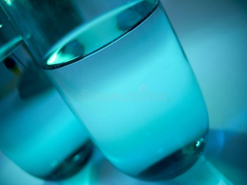 Glazen 3 van het water stock afbeeldingen