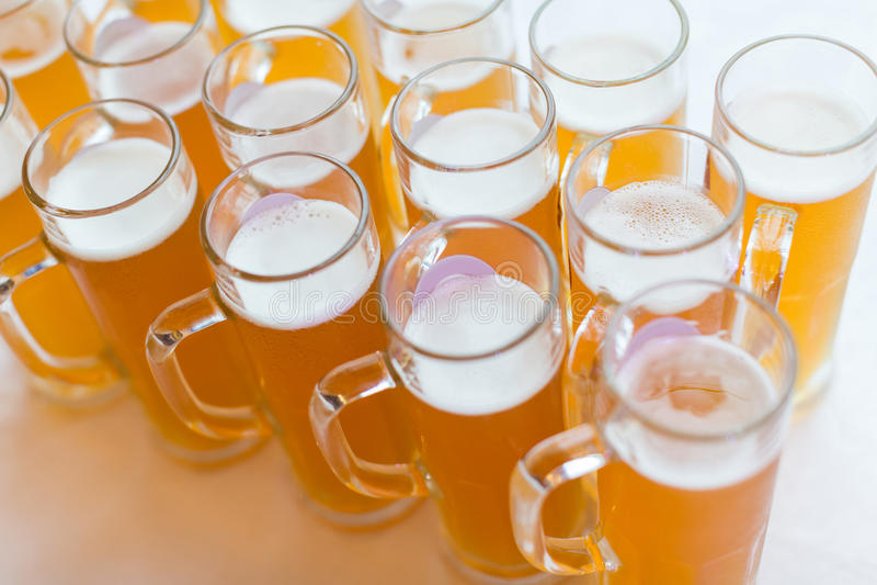 Glazen bier stock foto