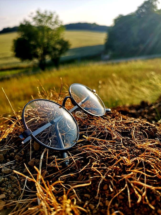 Glazen bij zonlicht royalty-vrije stock foto