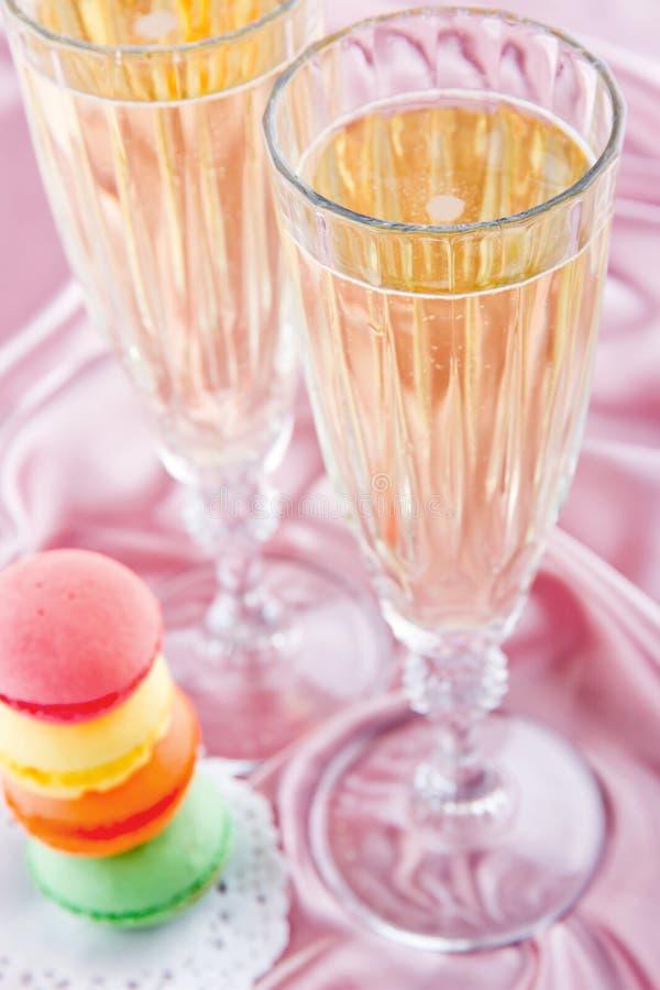 Glazen champagne stock afbeeldingen