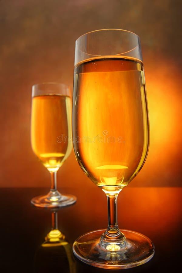 Glazen cider royalty-vrije stock foto's