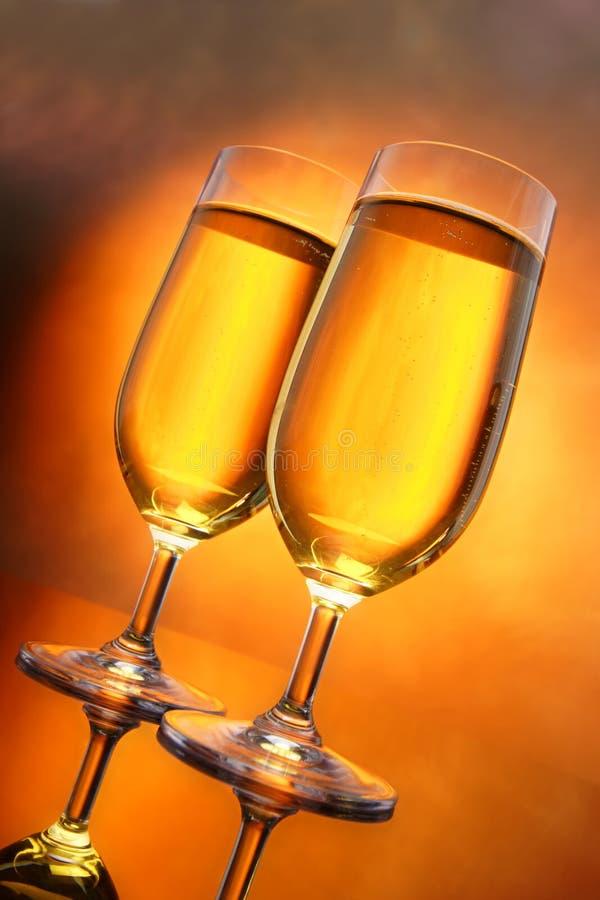 Glazen cider royalty-vrije stock foto