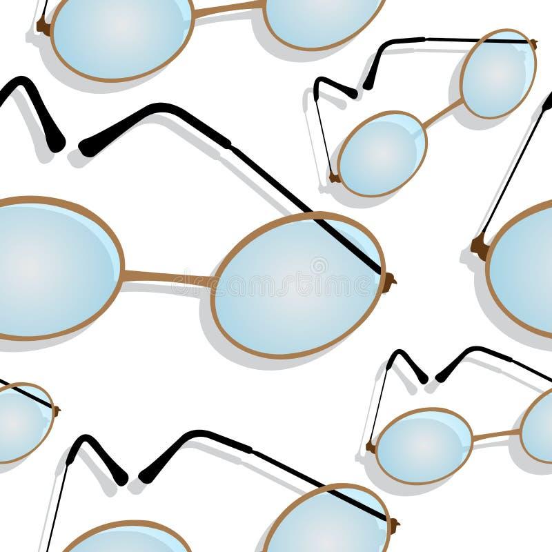 Glazen in de schaduw gesteld patroon vector illustratie