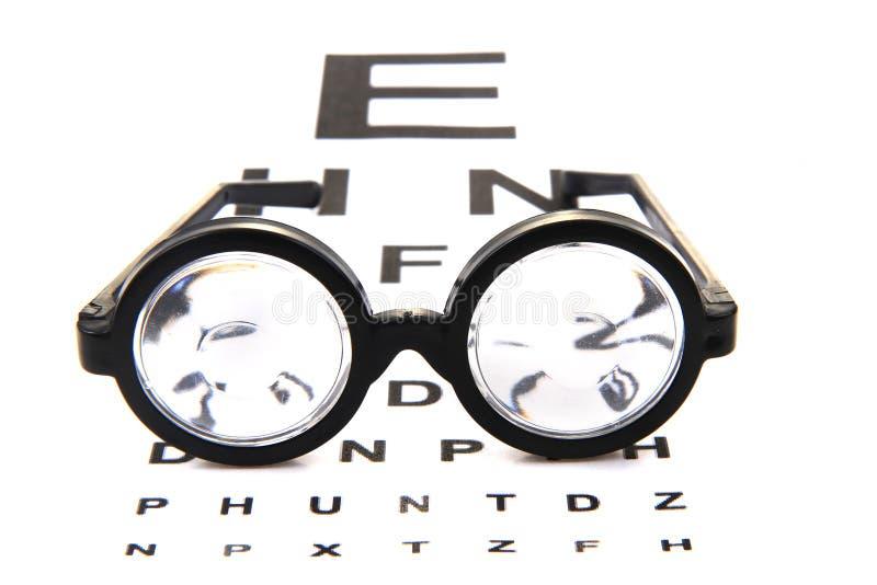 glazen en optische test royalty-vrije stock afbeeldingen