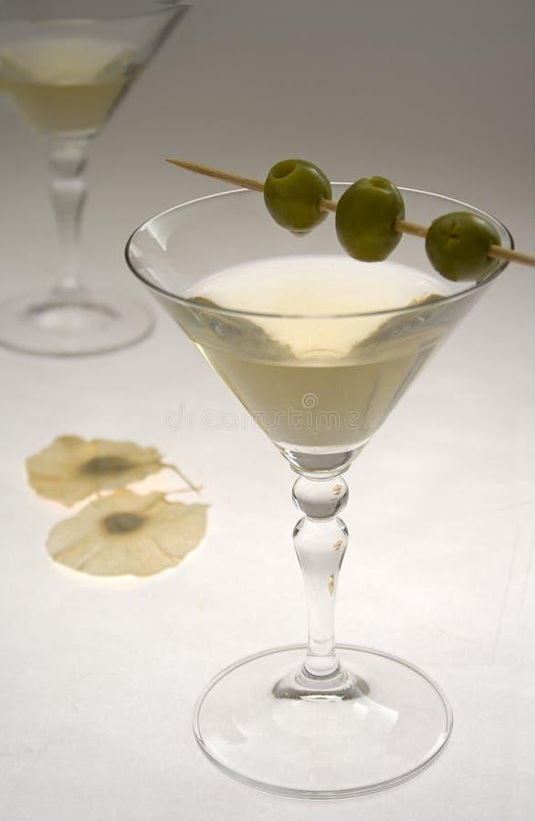 Glazen I van martini royalty-vrije stock afbeelding