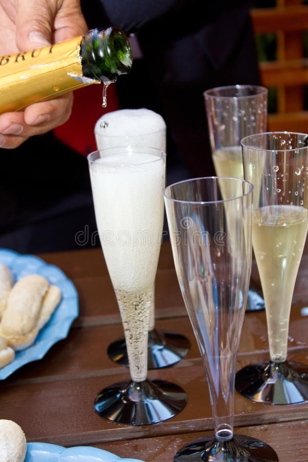 Glazen III van Champagne stock fotografie