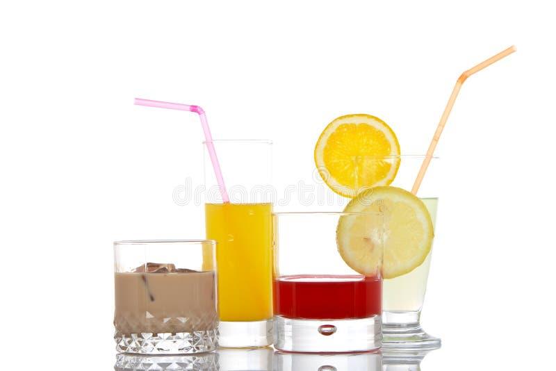 Glazen met dranken royalty-vrije stock afbeeldingen