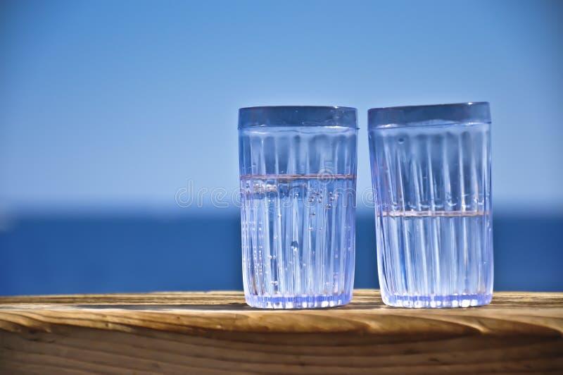 Glazen met dranken royalty-vrije stock foto