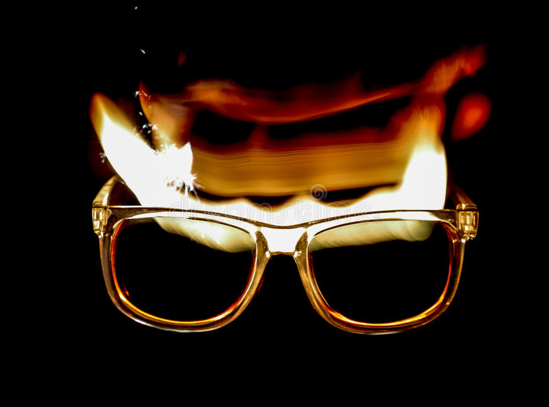Glazen op brand stock foto's
