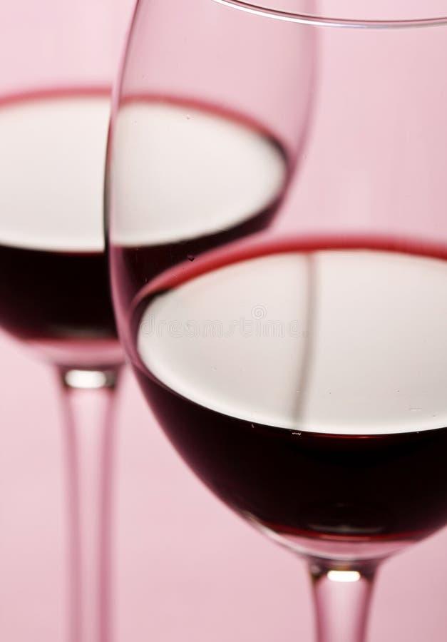 Glazen rode wijn stock afbeelding
