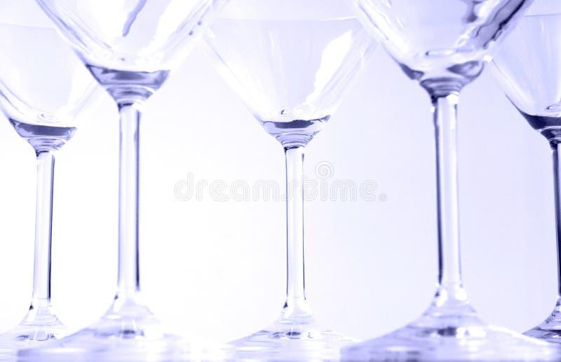 Glazen VI Van Martini Royalty-vrije Stock Foto