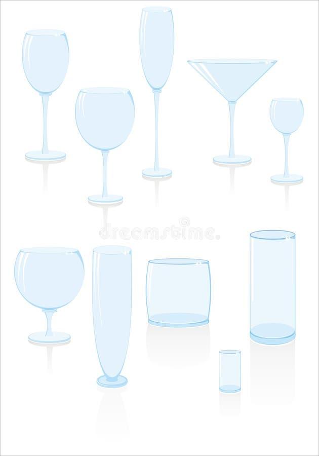 Glazen voor dranken stock illustratie
