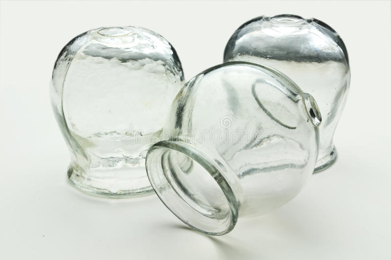 Glazen voor het tot een kom vormen stock afbeeldingen