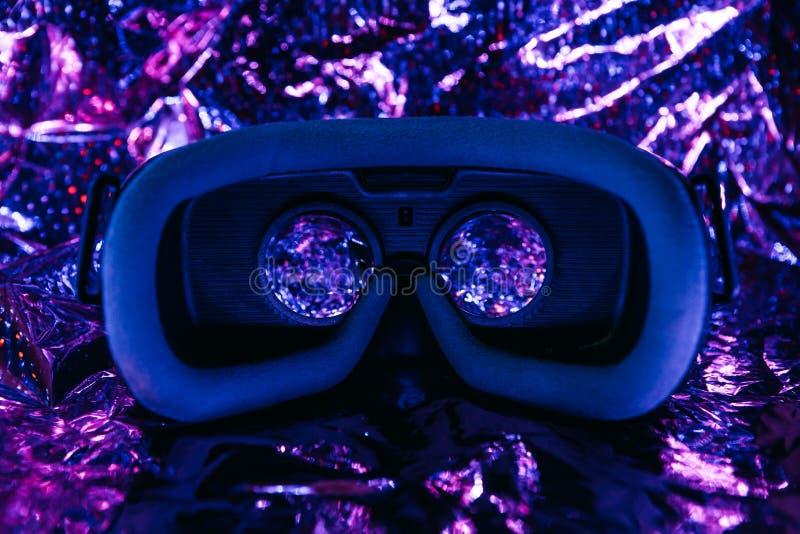 Glazen voor virtuele realiteit VR-concept stock foto