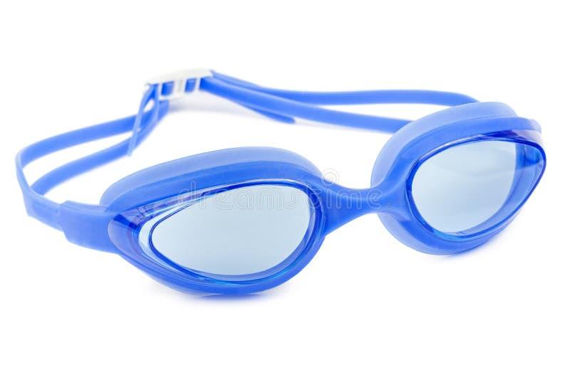 Glazen voor zwemmen Geïsoleerd op een wit stock afbeelding
