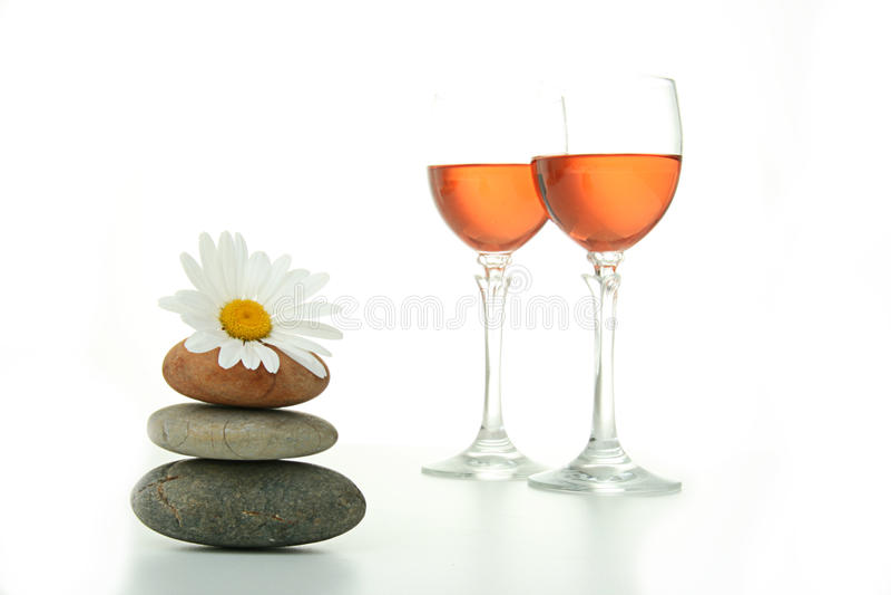 Glazen wijn stock fotografie