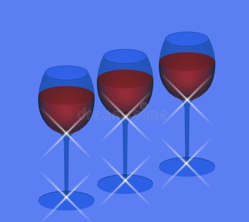 Glazen wijn royalty-vrije illustratie