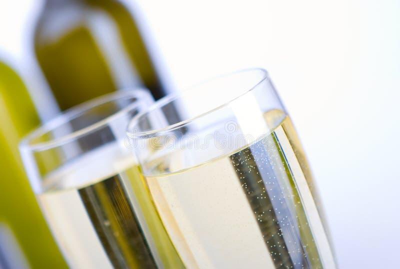 Glazen wijn royalty-vrije stock afbeeldingen