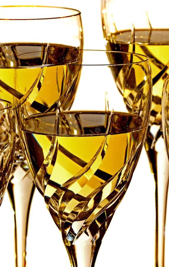 Glazen witte wijn royalty-vrije stock fotografie