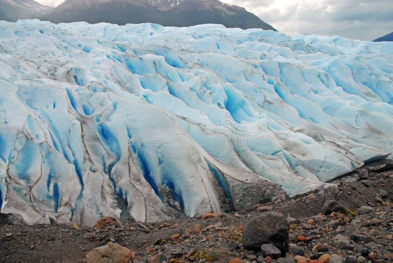 Glazial- Gelände Patagonia, Argentinien stockfotografie