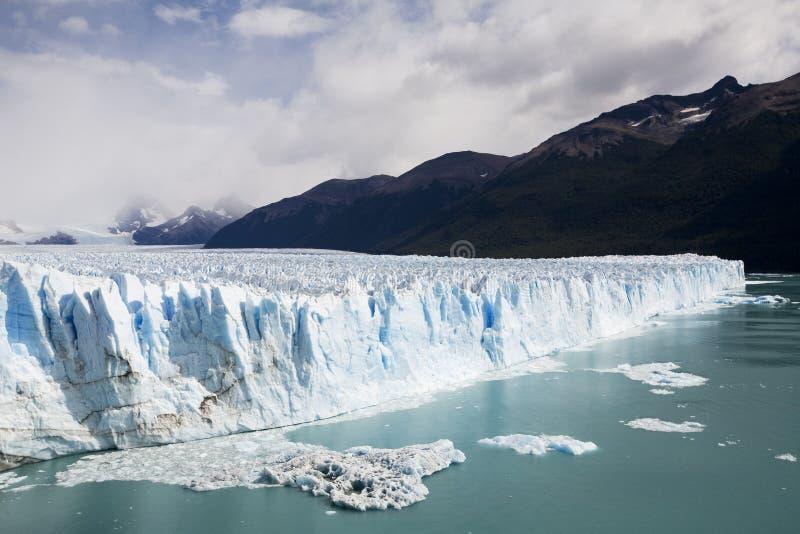 Glazier in Patagonia. Glacier in perito Moreno in Patagonia stock photo