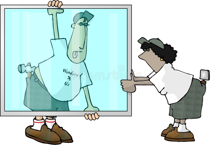 Download Glaziers stock illustration. Image of comic, cartoon, glazier - 32224
