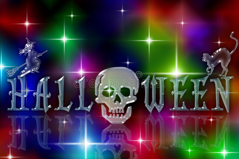 Glazy sterrig Halloween royalty-vrije illustratie