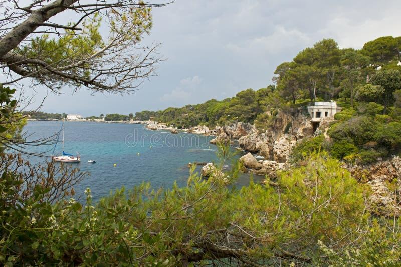 GLB dÂ'Antibes le Sentier du Kust Franse Riviera stock afbeelding