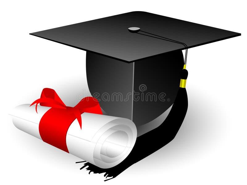 GLB en diploma vector illustratie