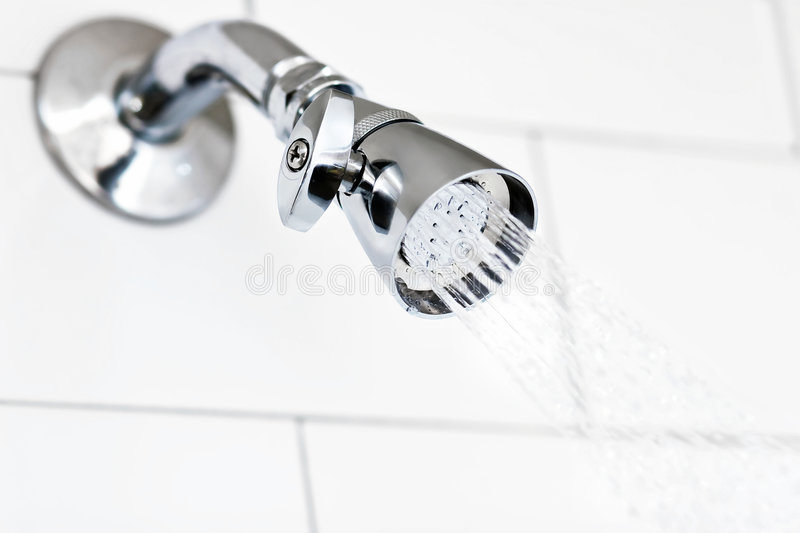 Gleaming Chrome Shower Head royalty free stock photography