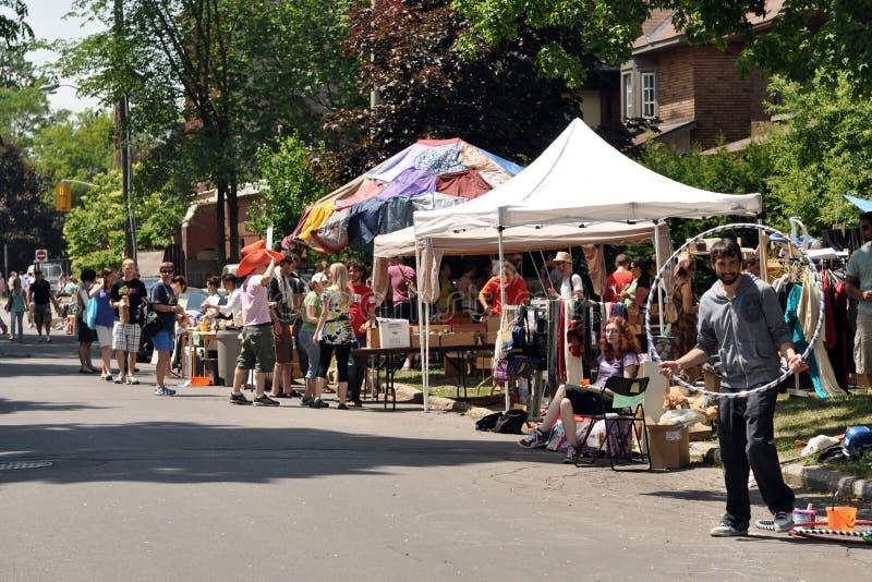 Glebe Garage Sale in Ottawa stock images