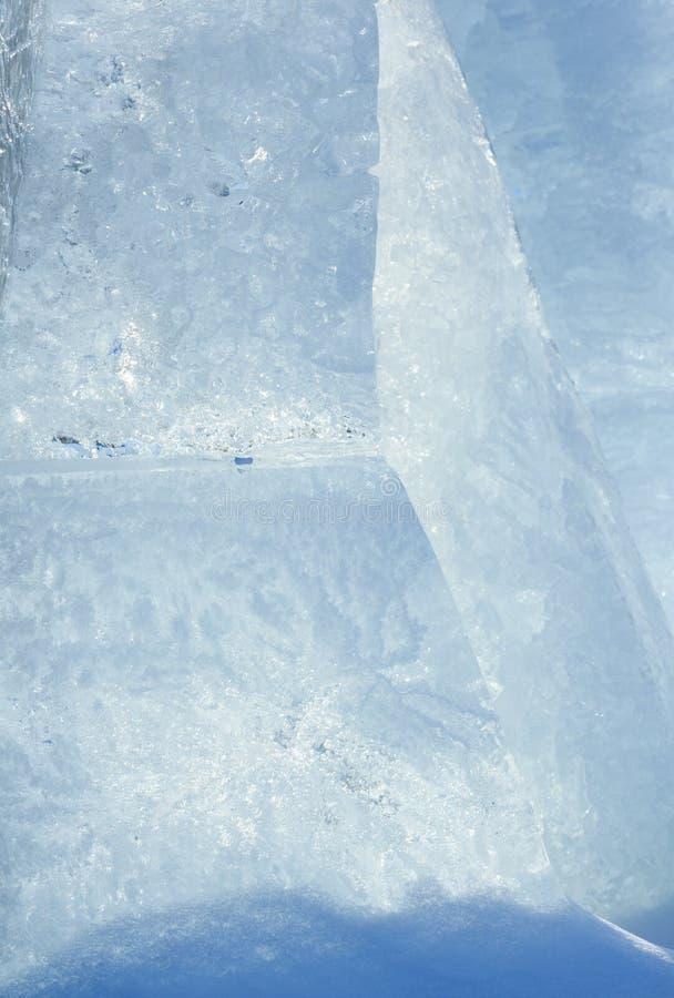Gleczeru blok lodowy zbliżenie obraz stock