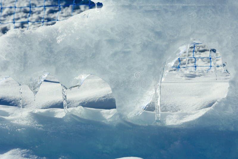 Gleczeru blok lodowy zbliżenie fotografia royalty free