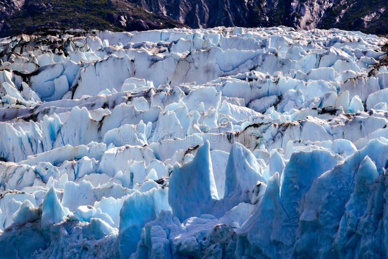 Gleczeru lodu zakończenie up obraz royalty free