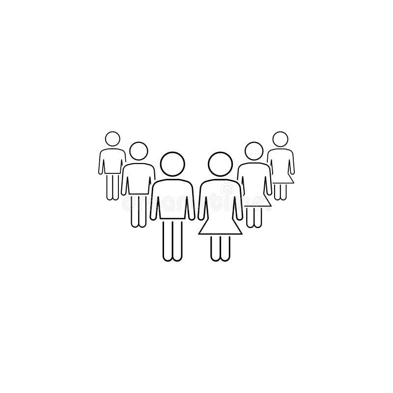 Gleichberechtigung der Geschlechter in der Arbeitsikone Element der Geschäftsikone für bewegliche Konzept und Netz apps Dünne Lin lizenzfreie abbildung