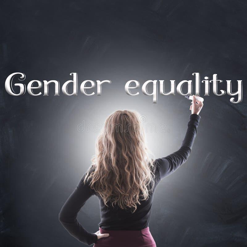 Gleichberechtigung der Geschlechter-Konzept stockfotografie