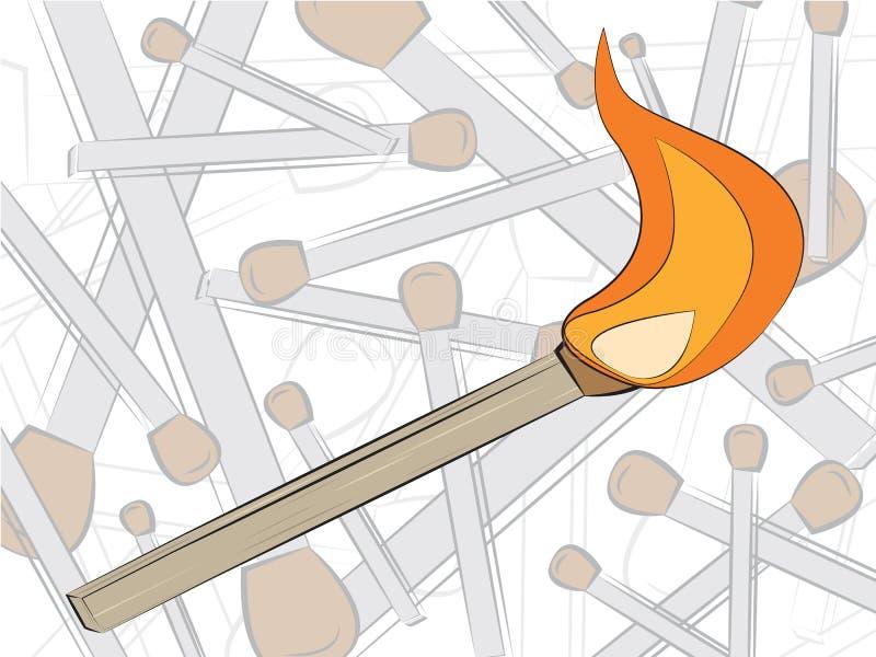 Gleichen Sie im Feuer ab vektor abbildung