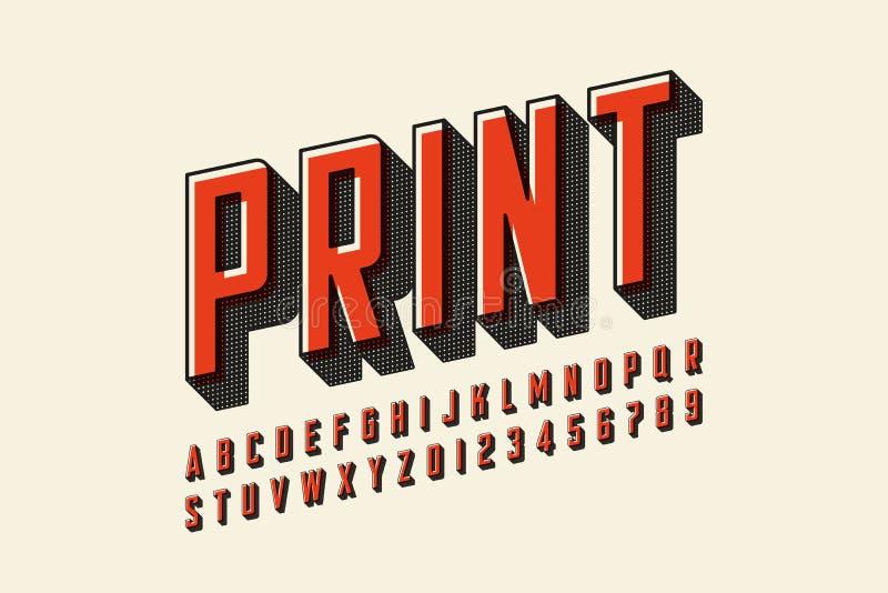 Gleichen Sie moderne Schriftart der Druckart aus vektor abbildung