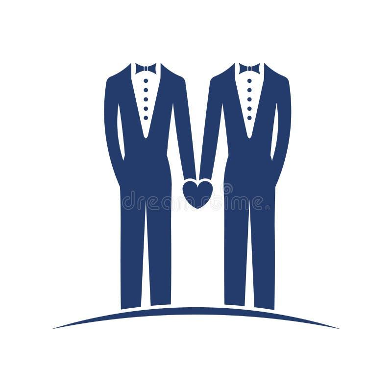 Gleichgeschlechtliche Heirat legal stock abbildung