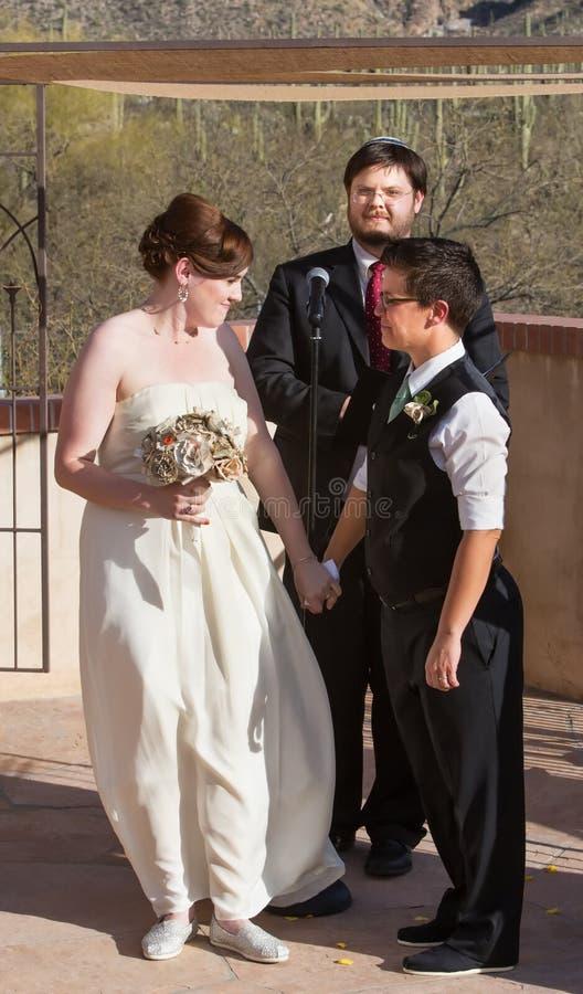 Gleichgeschlechtliche Heirat-Partner lizenzfreie stockbilder